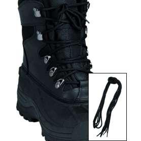 Lacets Coton 140 cm Noir - 2 Paires
