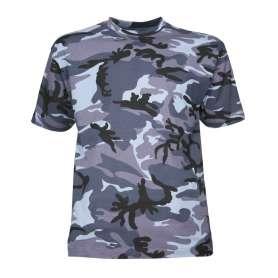 Tee-Shirt Camo Urbain Bleu