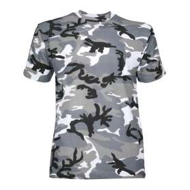 Tee-Shirt Camo Urbain Gris