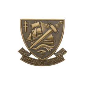 Insigne de Béret Bronze COMMANDO MARINE
