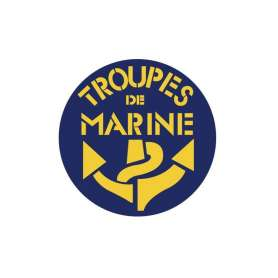 Autocollant Troupes de Marine Rond Vitrophanie