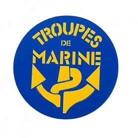 Autocollant Troupes de Marine Rond