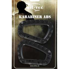 Mousqueton Karabiner ABS Noir lot de 2