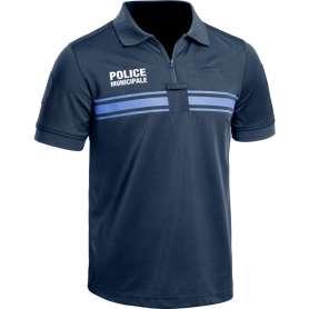 Polo Police Municipale P.M. ONE Manches Courtes Bleu Marine