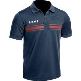 Polo A.S.V.P. P.M. ONE Manches Courtes Bleu Marine