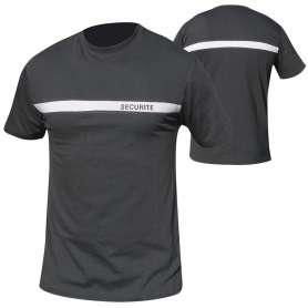 Tee-Shirt Bande Grise Sécurité