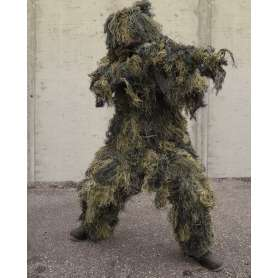 Ghillie Suit Anti-Feu Woodland