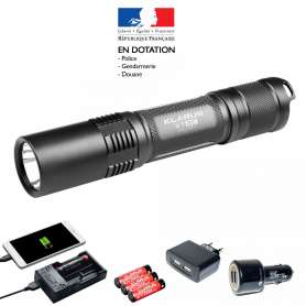 Pack Lampe Tactique Rechargeable XT2C