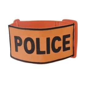 Brassard POLICE Brodé Orange
