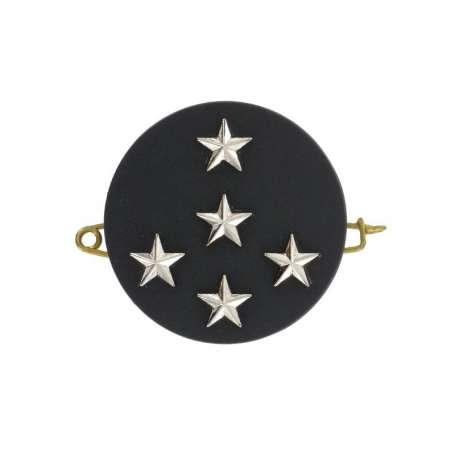 Insigne de Béret Argent Général d'Armée 5 Étoiles