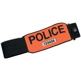 Brassard POLICE Rétro-Réfléchissant avec Numéro RIO