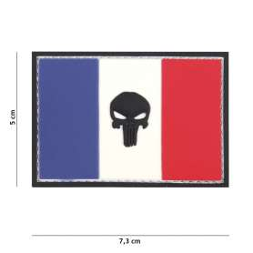 Patch 3D PVC Drapeau France Punisher