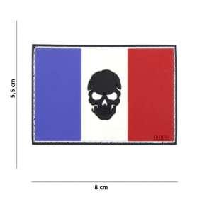 Patch 3D PVC Drapeau France Skull
