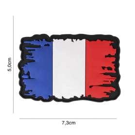 Patch 3D PVC Drapeau France Vintage