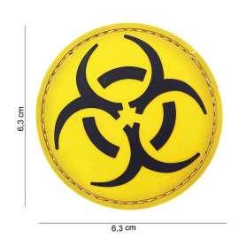 Patch 3D PVC Biohazard Jaune