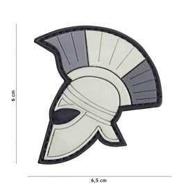 Patch 3D PVC Casque Roman Gris