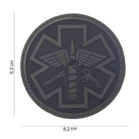 Patch 3D PVC Para Medic Noir