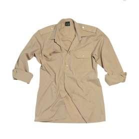 Chemise de Service Manches Longues Khaki XL Mil-Tec