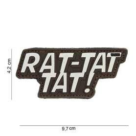 Patch 3D PVC Rat-Tat-Tat Marron
