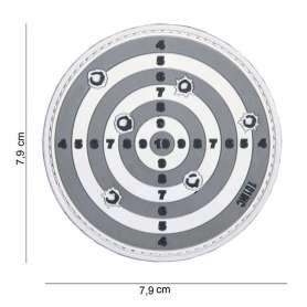 Patch 3D PVC Target Gris