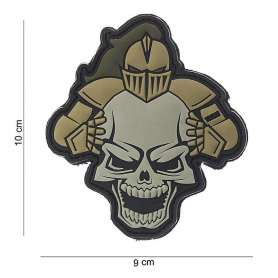 Patch 3D PVC Knight Skull Sable