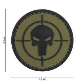 Patch 3D PVC Cible Punisher Vert OD