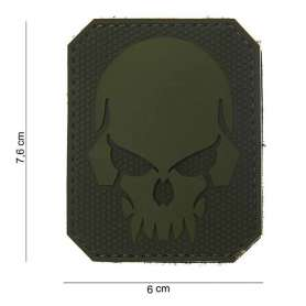 Patch 3D PVC Pirate Skull Vert OD