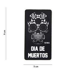Patch 3D PVC Dia De Muertos Noir