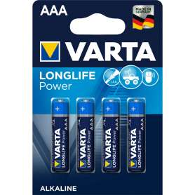 4 Piles Alcaline LR03/AAA Varta 4903