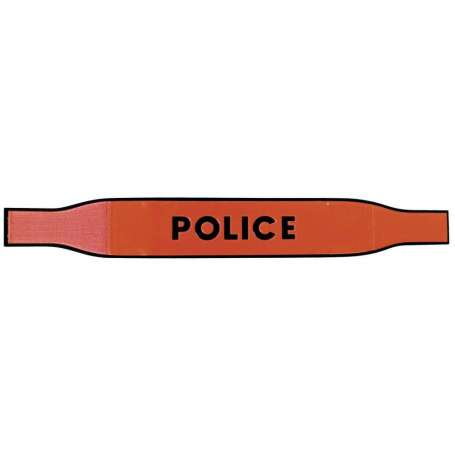 Brassard POLICE Reflexite Fluo T.O.E.®