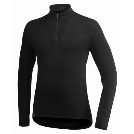 Ullfrotté  Zip Turtleneck 400 Noir Woolpower