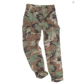 Pantalon US Type BDU RipStop Délavée Woodland Mil-Tec
