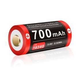 Batterie Rechargeable Micro USB 16340 3,6V 700mAh Klarus