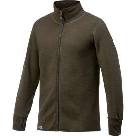 Ullfrotté Full Zip Jacket 600 Vert Pin Woolpower