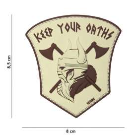Patch 3D PVC Keep Your Oaths Sable