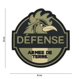 Patch 3D PVC Défense Armée de Terre Vert
