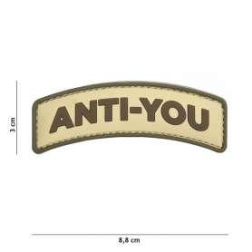 Patch 3D PVC Anti-You Coyote
