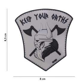Patch 3D PVC Keep Your Oaths Gris