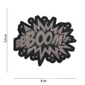 Patch 3D PVC BOOM! Gris