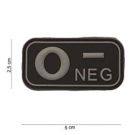 Patch 3D PVC O NEG Noir