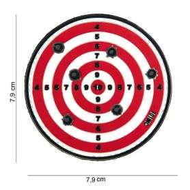 Patch 3D PVC Target Rouge