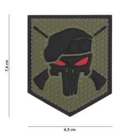 Patch 3D PVC Commando Punisher Vert OD