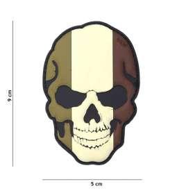 Patch 3D PVC Skull France Forêt