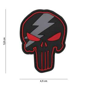 Patch 3D PVC Punisher Thunder Rouge