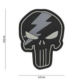 Patch 3D PVC Punisher Thunder Gris