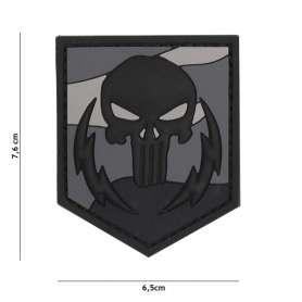 Patch 3D PVC Punisher Thunder Strokes Nuit
