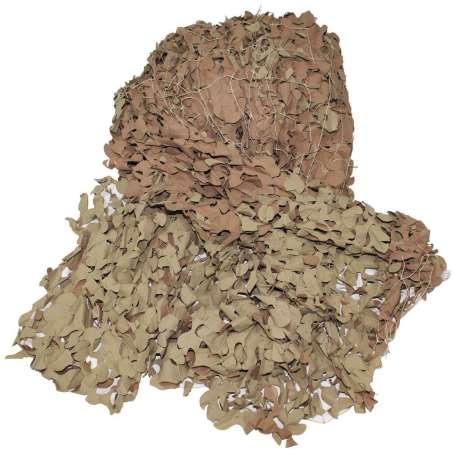 Filet Camouflage Britannique 7,5 x 7,5m Désert État Neuf (non contractuelle)
