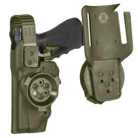 Exemple d'utilisation du système de connexion 8K33 vert OD ( Holster et passant de ceinture non fournis)
