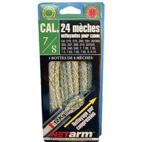 Blister 24 Mèches Vertes Calibre 7 à 8 mm Netarm