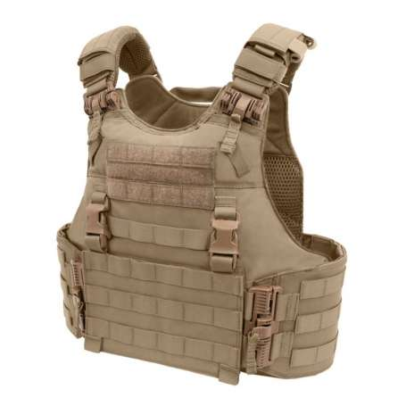 Quad Release Plate Carrier Coyote Tan Warrior Assault Systems EO-QRC-CT